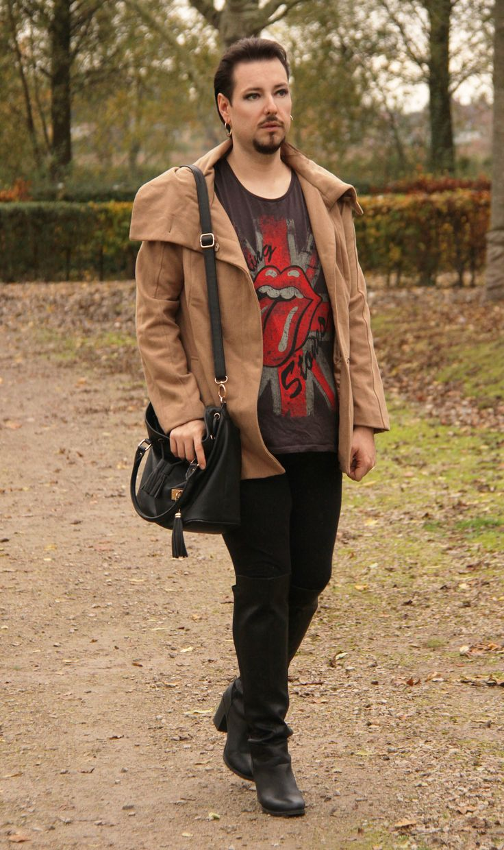 #fashion #look #over #the #knee #boots #man #bottes #homme #cuissardes #cuir #newlook #yessica #jacket Mon style homme, Manteau Softgrey, Tshirt Ikebana, Legging Canda, bottes à talons Newlook