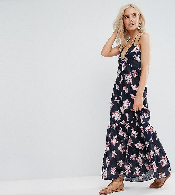 Get this Asos Petite's long dress now! Click for more details. Worldwide shipping. ASOS PETITE Orchid Tropical Tiered Maxi Beach Dress - Multi: Petite beach dress by ASOS PETITE, Printed cotton, V-neck, Tiered skirt, Low V-cut back, Self-tie fastening, Loose fit - falls loosely over the body, Machine wash, 100% Cotton, Our model wears a UK 8/EU 36/US 4 and is 163cm/5'4 tall, Maxi dress length between: 135.5-145.5cm. 5�3�/1.60m and under? The London-based design team behind ASOS PETITE tak...
