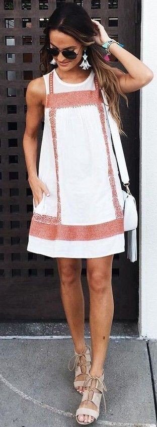 #summer #lovely #fashion   Little White Dress