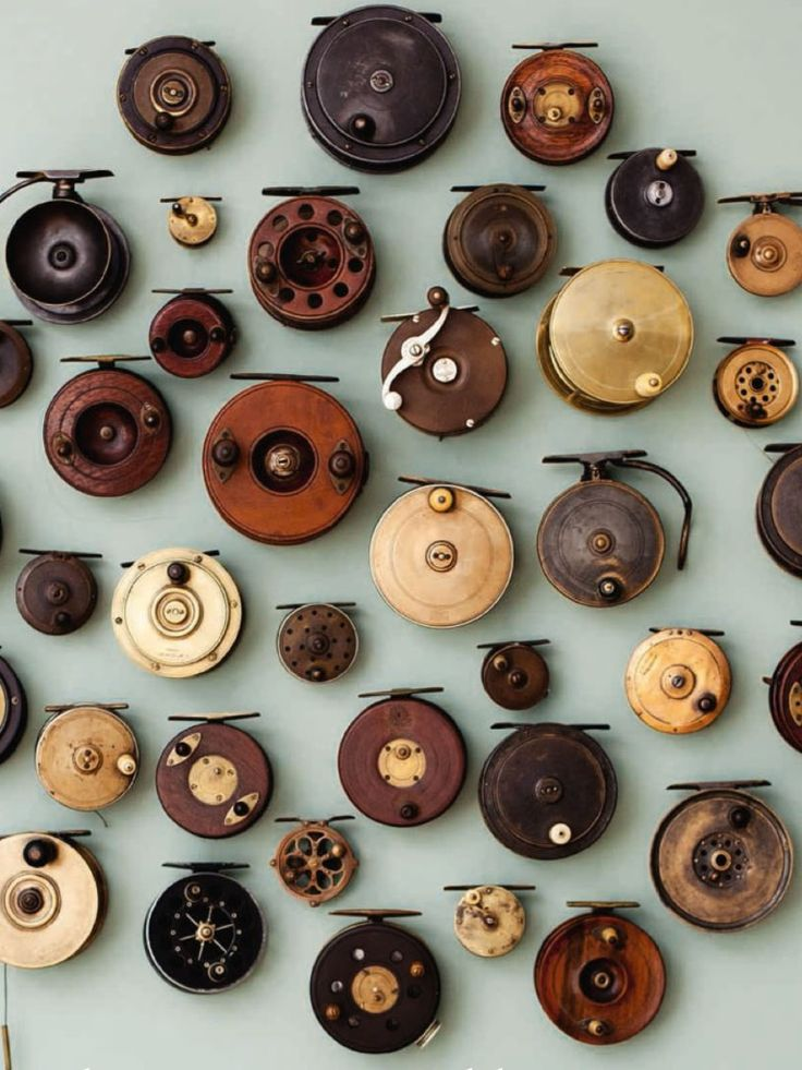 antique reel collection via THE SORROWS OF GIN