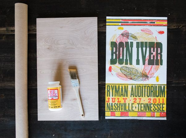 how to mount posters and art to plywood for an affordable modern look