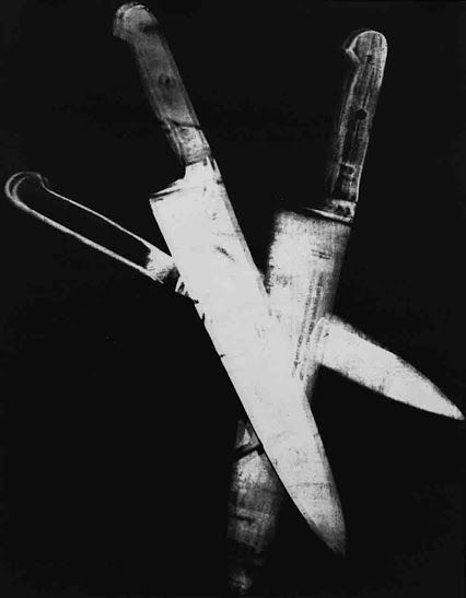 """Andy Warhol """"Knives"""" 1981-1982, by Lee Mcclymont #4.jpg  (113 x 150)cm printed onto Hahnemuehle 100% Cotton rag paper, canvas/linen or pexiglass.  'The Paintings coming out of the Printer'  #important #australian and #international #contemporary #art  lm福 AD 1907'15  © Images are copyright of their respective owners, assignees or others."""