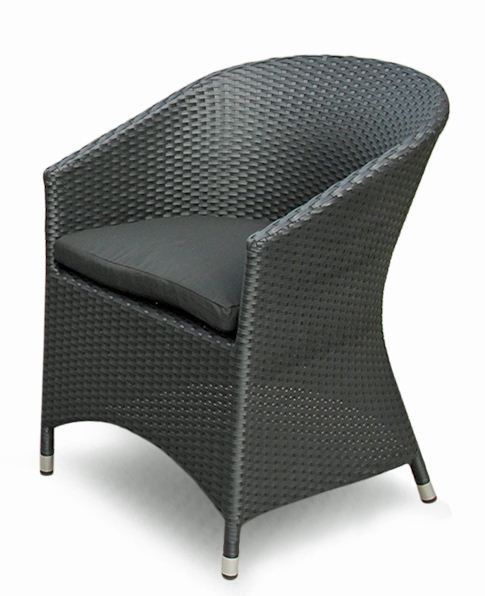 Show details for Terrace Tub Chair - Black