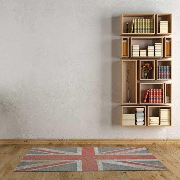 Gandebia, La casa si fa bella, Tappeto Flag-Bandiera Londra 120x180 - Martessile - Gandebia