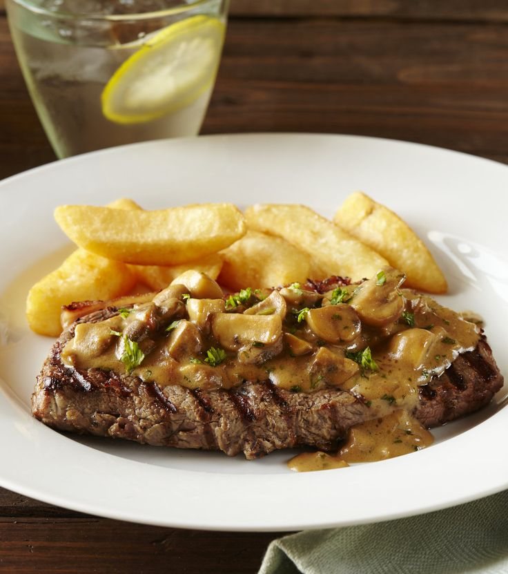 Steak Diane! Mushrooms, brandy, cream and Worcestershire sauce make the base of this classic steak dish, with its creamy sauce. Steak Diane is an absolute classic dish that the whole family will love! Use Knorr Beef Stock Pot to greatly enhance the flavour of this dish.