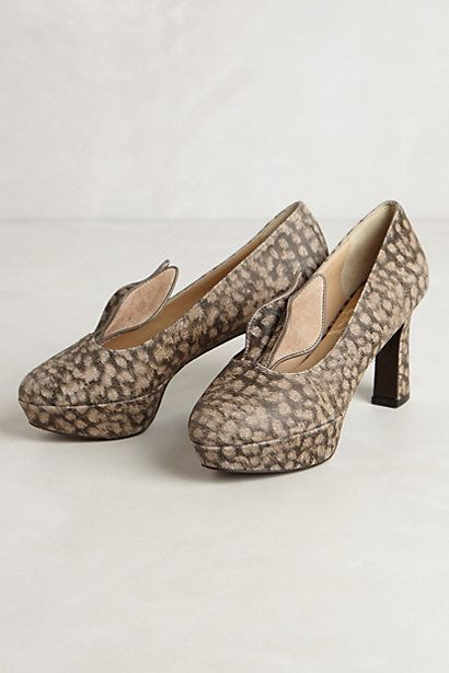 Cute Fawn Heels #anthropologie