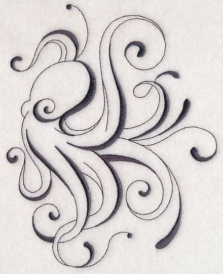 Inky Octopus 2 design (M6592) from www.Emblibrary.com