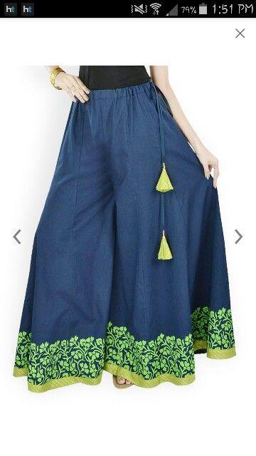 Love dis cotton sharara pants..perfectfor summers..