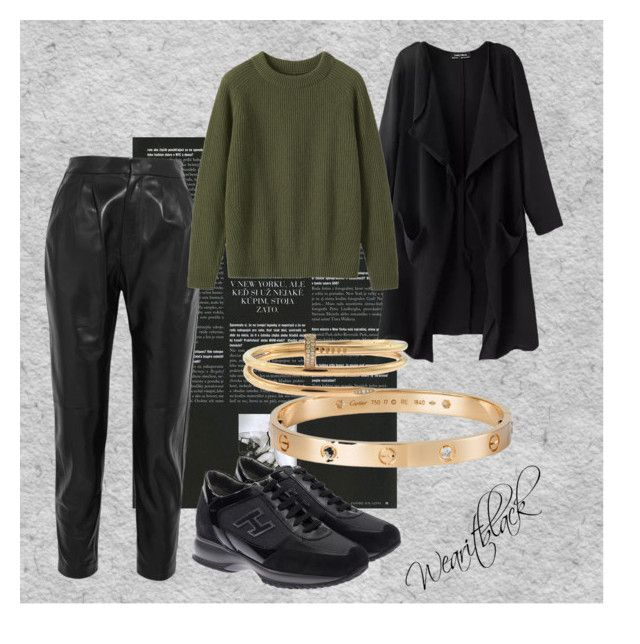 Casual by wearitblack on Polyvore featuring Toast, Yves Saint Laurent, Hogan and Cartier