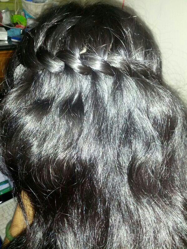 Kepang waterfall! Iseng pake rambut @rrresti :D