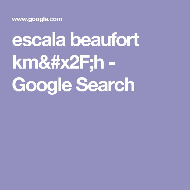 escala beaufort km/h - Google Search