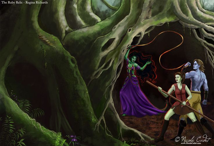 Ruby Relic Book Cover | Nicole Cadet Fantasy Art