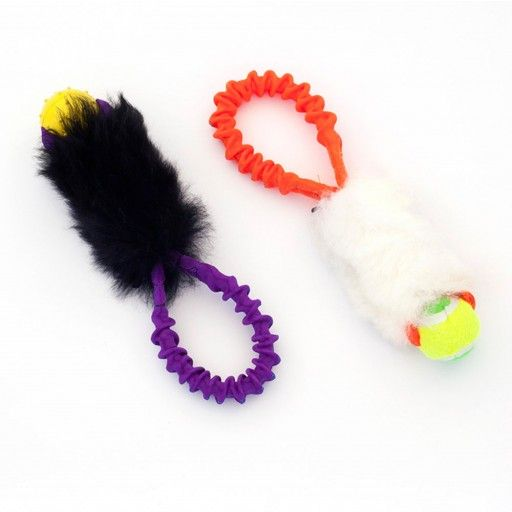 Pro Dog Pocket Bungee - Sheepskin Ball Tug