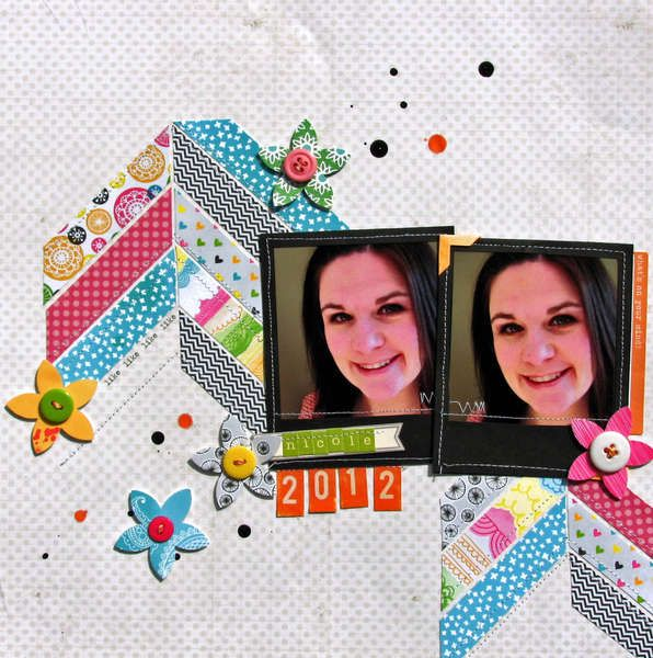 Layout by Nicole Nowosad  Scrapbook Circle April Daydreamer kit
