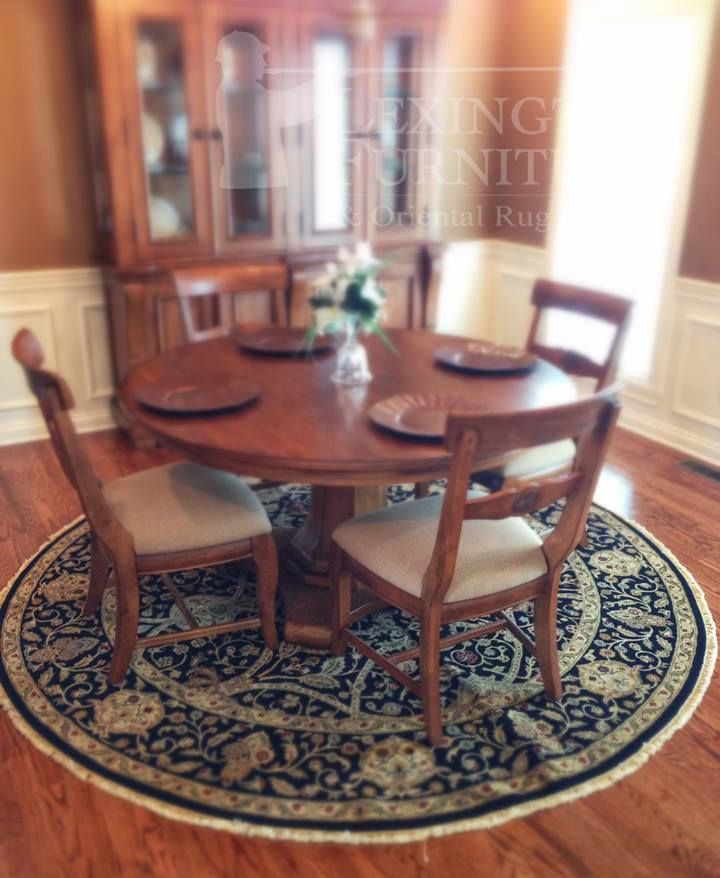 Round Dining Tables Create An Open Spacious Environment The Lack Of Hard Edges Softens
