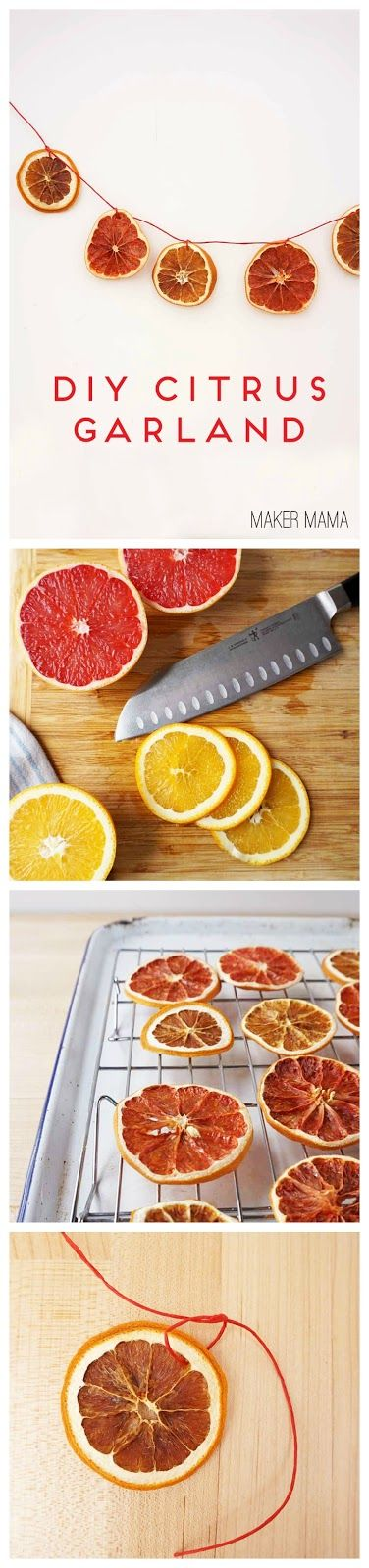 Maker Mama Craft Blog: Citrus Garland and Ornaments