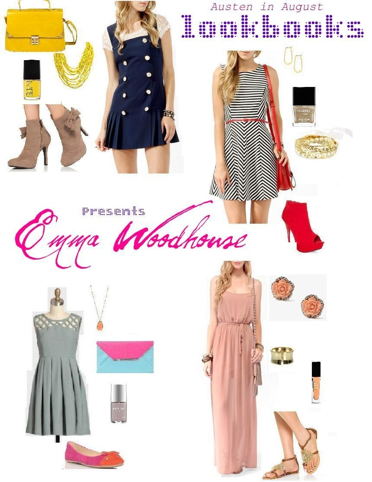 I made a lookbook for Jane Austen's Emma Woodhouse. And it's awesome. Click through to see the pieces + get links!