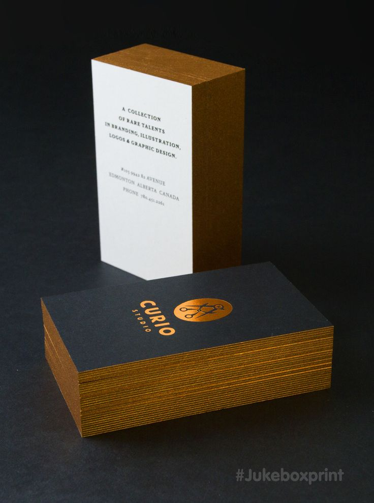 Stunning 2ply premium black business cards with copper foil and stunning 2ply premium black business cards with copper foil and copper painted edges designed by curio studio produced by jukebox print reheart Image collections