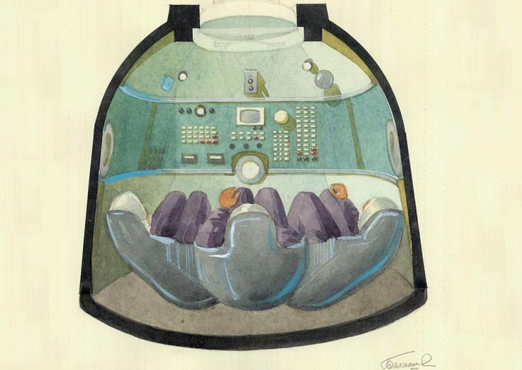 Galina Balashova - Blueprint of the Soyuz spacecraft