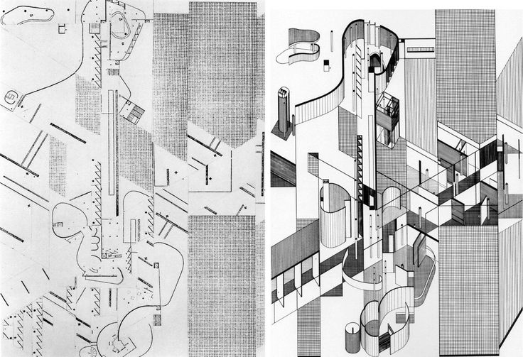 Fracturing and Displacement of Form: Daniel Libeskind's Early Collage Drawings - Collage Rebus 2? (1967)