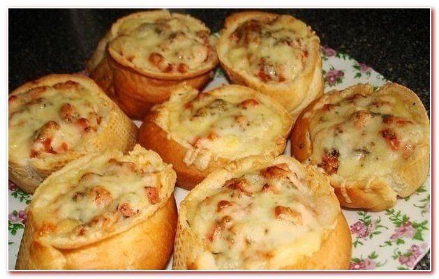Хрустящие мини-пиццы в багете - мгновенное решение для быстрого перекуса
