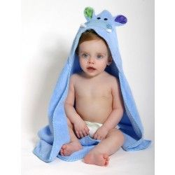 Zoocchini Baby Bath Towel - The Henry the Hippo hooded towel brings some extra fun to bath and swim time.