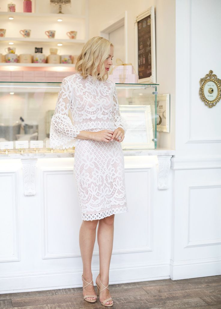 Ivory Lace Bell Sleeve Dress – Shop Lombard and Fifth