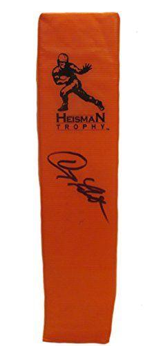 Doug Flutie Autographed / Signed Heisman Trophy Full Size Logo Football Touchdown End Zone Pylon, Boston College Golden Eagles, Buffalo…
