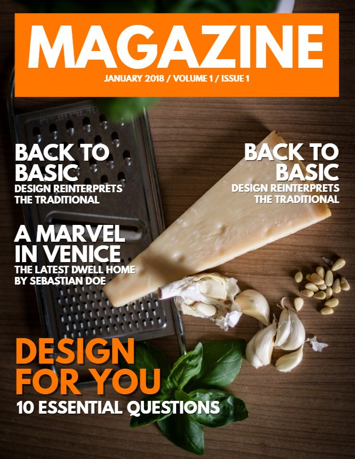 food magazine cover design social media template magazine cover