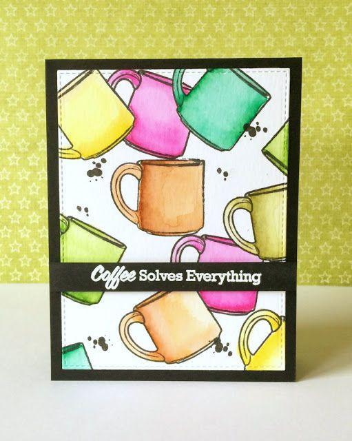 three umbrellas: Summer Coffee Lovers Blog Hop