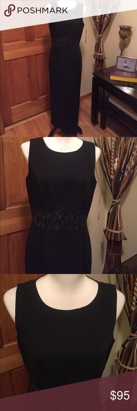 Donna Ricco Black Cotton Dress
