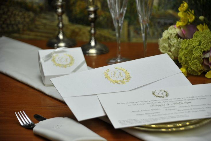 Luxury Wedding Invitation & Box Favor with gold foil printing!
