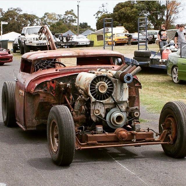 Rat Rods International - Air cooled Deutz Diesel engine.