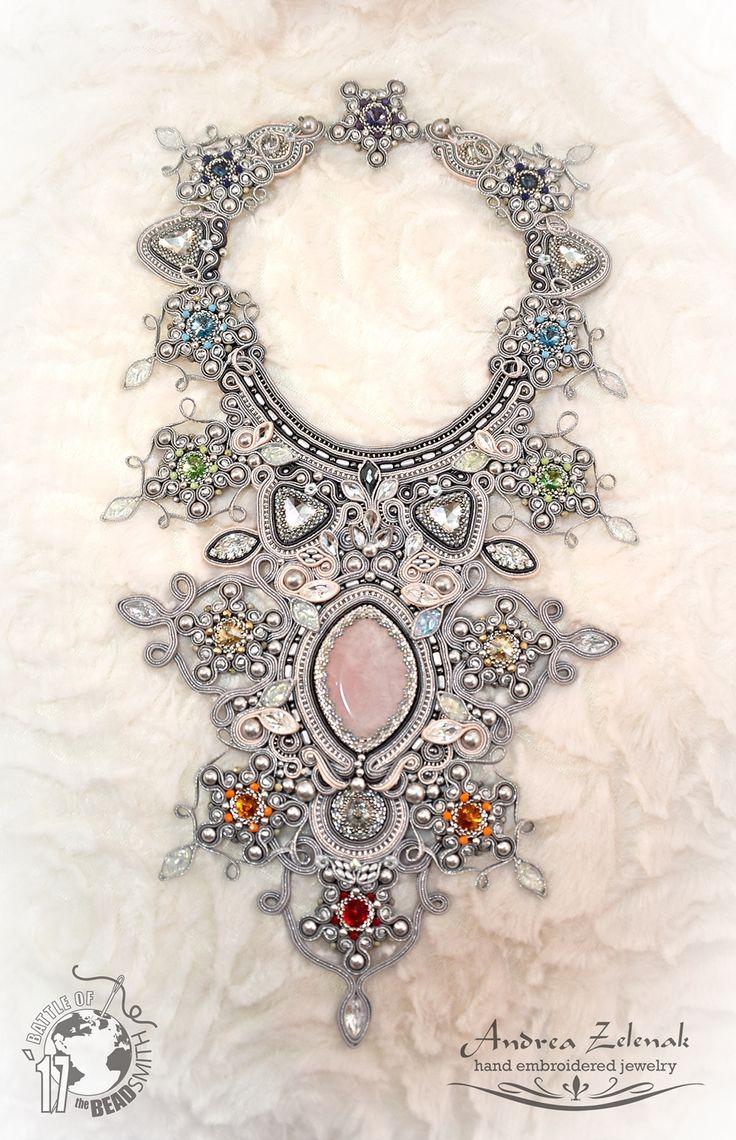 Soutache necklace - Andrea Zelenak  - Chakra Love