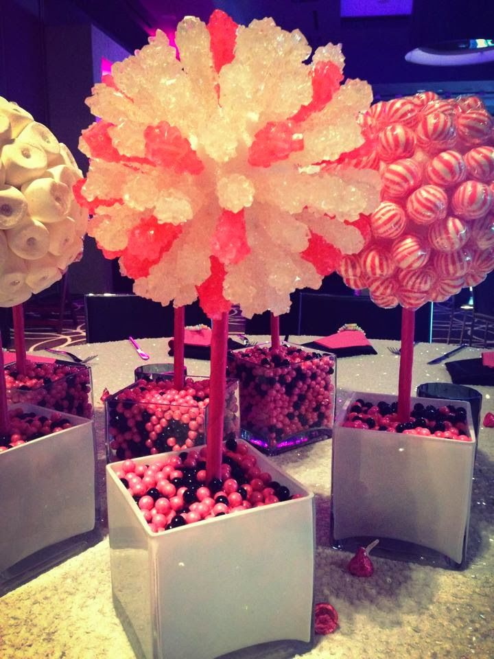 Rock candy centerpiece                                                                                                                                                                                 More