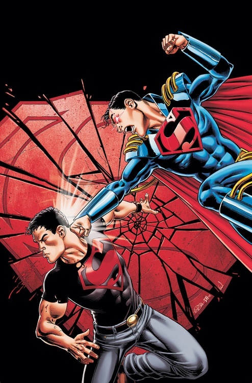 Teen Titans: Kon-El Vs Superboy Prime // artwork by Dough Hazlewood (2011)