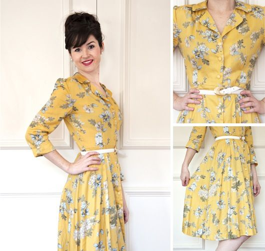 Vintage Shirt Dress - fancy stretching yourself with something a bit trickier? Come and whip up this gorgeous shirt dress
