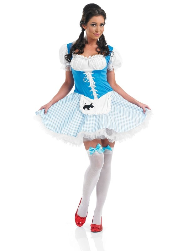 Follow the yellow brick road all the way to your amazing hen night in this sexy and adorable Dorothy dress!    Lead your troop of hens on a magical mission in this classic storybook costume. Planning to have a storybook themed hen party!? Check out one of our other fairytale characters: Neverland Fairy, Fairy Nymph, Goldilocks, Little Miss Muffett, Dorothy or Snow White to name a few! £25.49