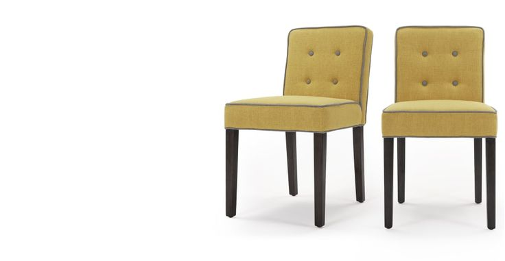 2 x Hoxton Dining Chairs, Pistachio Green and Persian Grey | made.com