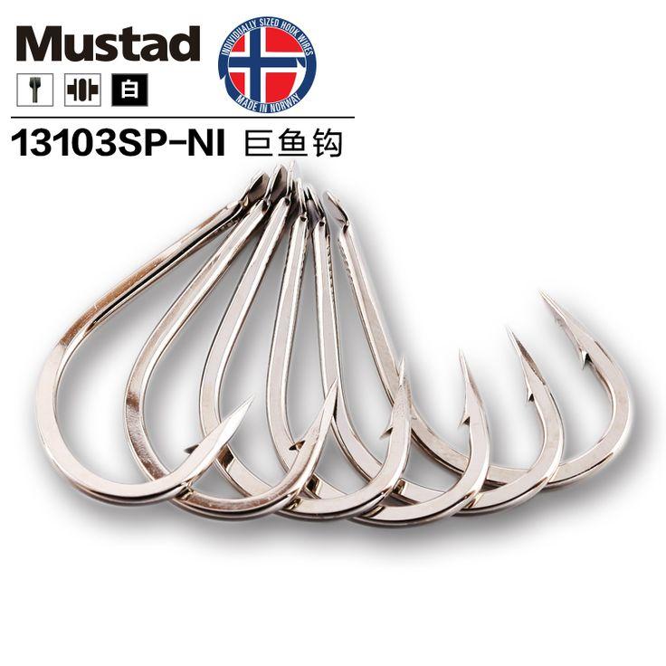 5 Packs Mustad 13103 Large Barbed Hook Diamond Hook Tip Flat Big Fish Sea Angling Carbon Steel Hooks Ocean Fishing Accessories #Affiliate