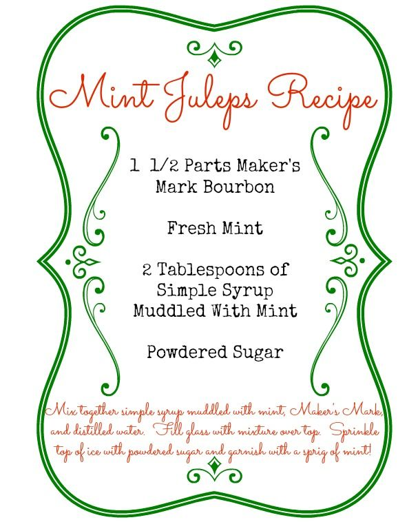 Free Mint Juleps Recipe Printable for The Kentucky Derby from www.mom4real.com