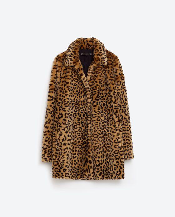 Image 8 of LEOPARD FAUX FUR COAT from Zara