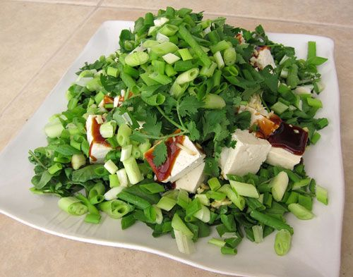 Po Po's Tofu Watercress Salad Recipe by: Popo Posted by: Pomai of Tasty Island Course: Salads/Japanese/Chinese It's a very simple dish to make, made up entirely of raw ingredients; all of which are VERY HEALTHY for you. http://tastyislandhawaii.com/2012/05/20/po-pos-tofu-watercress-salad/