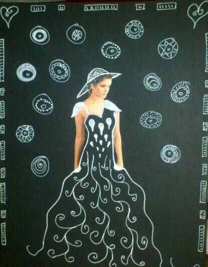 Art femme, posca, magazines