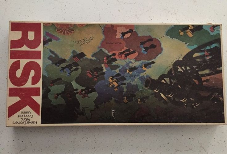 RISK board game vintage origial complete Parker Brothers strategy military #ParkerBrothers
