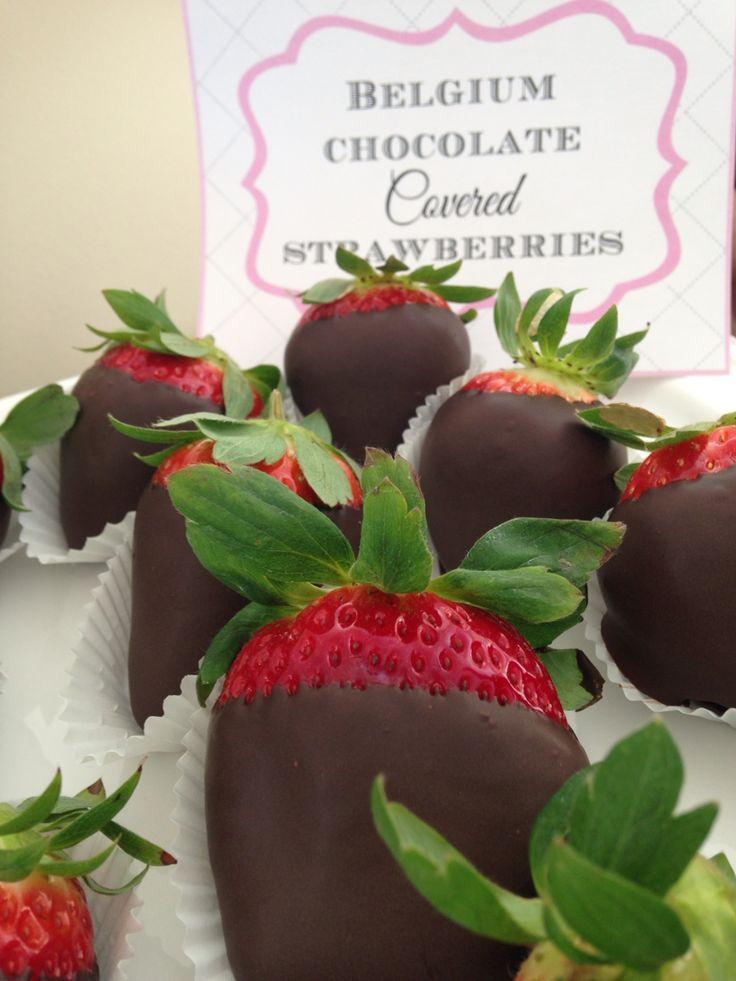 Belgium chocolate covered strawberries