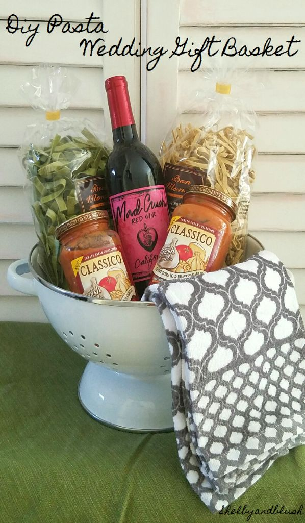 DIY Pasta Gift Basket For Wedding Gifts!!
