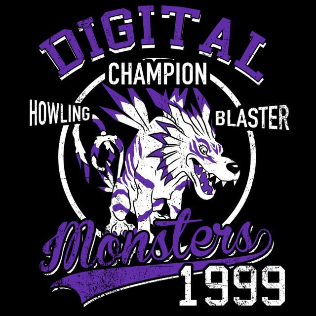 Howling Blaster T-Shirt $12.99 Digimon tee at Pop Up Tee!