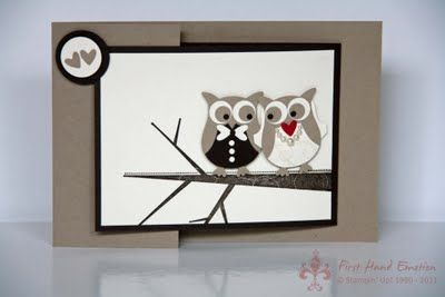 Adorable Owl Card!  May need to make my BFF another engagement card :)  She loves owls!