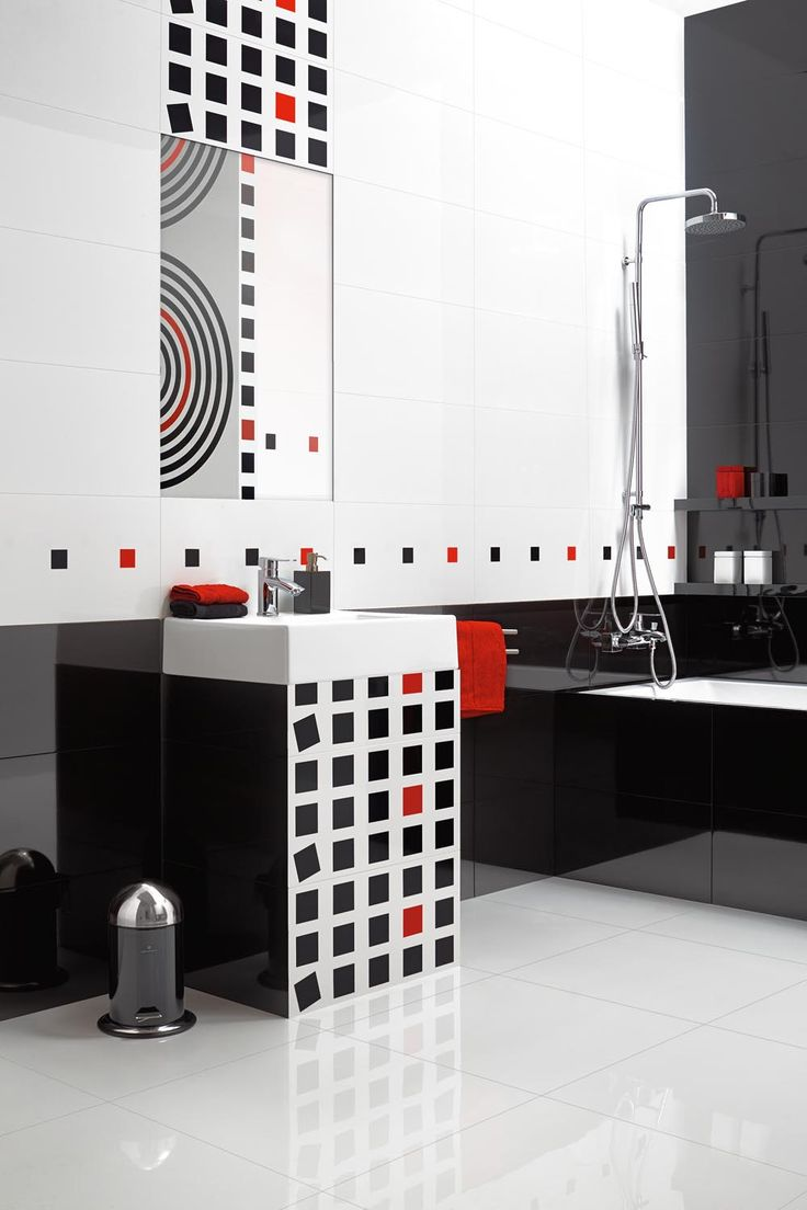 Let's break some ceramic tiles rules! This is Opp! of CERAMSTIC with Aim and Point decorations http://ceramstic.com/pl/opp/